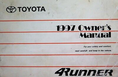 2003 toyota 4runner owners manual