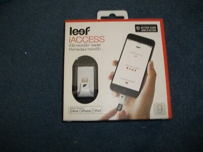 Leef iAccess IOS Micro SD Card Reader for iPhone, iPod and iPad - brand new