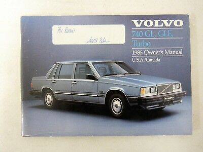volvo 740 gl gle turbo owners manual 1985 usa canada 744 745 85 rh picclick com 1990 volvo 740 owner's manual Volvo 740 Turbo