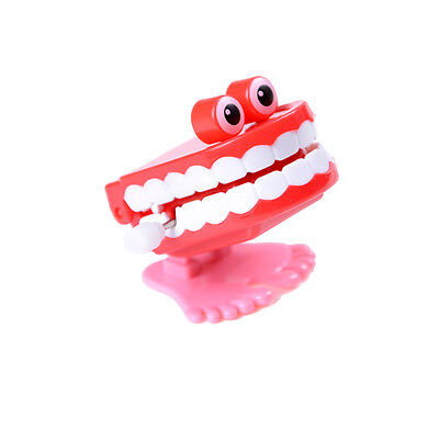 1piece Cute Dental Tooth Dentist Wind-up Gift Plastic Tooth Clockwork Toys SR