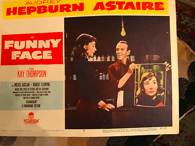Funny Face 1957 Paramount lobby card Audrey Hepburn Fred Astaire
