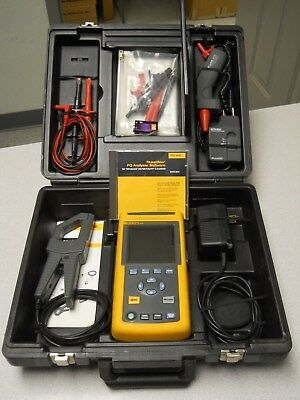 FLUKE 43B Power Quality Analyzer Package with Accessories See Details in Descrip