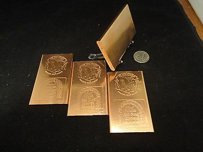 Other Bullion 1 Oz Copper Bars Lot Of 16