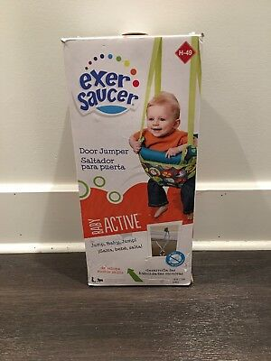 Exersaucer Door Jumper: BRAND NEW IN BOX. baby jumper theme Bumbly