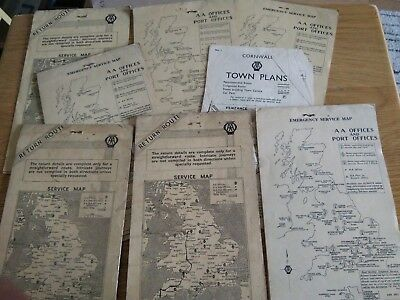 VINTAGE AA ROUTE MAP FOR DEVON CORNWAL - £1.09 | PicClick UK