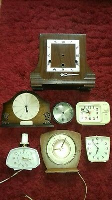 job lot of clock parts & clocks