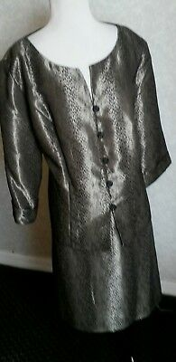 PLUS SIZE 20W black silver shimmery sparkle Formal 2PC Dress Suit LE BOS new