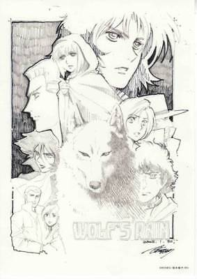 Wolf's Rain Toshihiro KAWAMOTO Solo Exhibition Limited Line Drawing A22