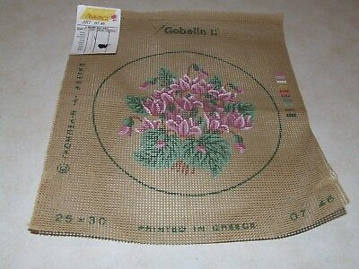 Tapestry - Gobelin - Round Floral Design - New - a