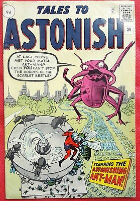 Tales to Astonish 39 Marvel Silver Age 1963 Ant-Man Steve Dikto Art