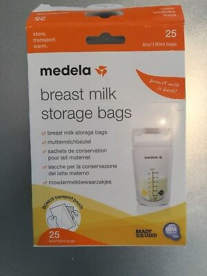 Medela Pump And Save breast milk storage bags (15) Box opened, bags unopened.