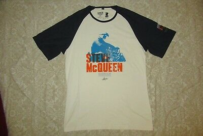 Barbour International Steve McQueen Racing Baseball TShirt XL