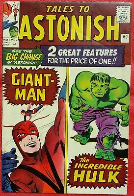 Tales to Astonish 60 Marvel Silver Age 1964 Hulk Begins Regular feature
