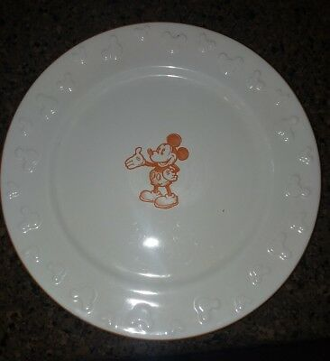 Ceramic Dinner Plate Disney World u0026 Disneyland Resort Mickey Mouse Sketch ... & CERAMIC DINNER Plate Disney World u0026 Disneyland Resort Mickey Mouse ...
