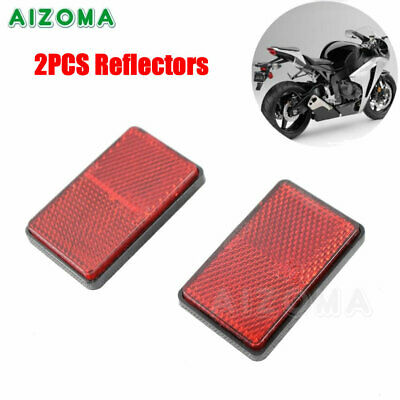 Universal Motorcycle Plastic Red Rectangular Adhesive Reflectors For Trailer Car