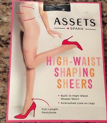 84678b76a4d Assets SPANX high waist shaping sheers Full Length Pantyhose Black Size 1  NEW