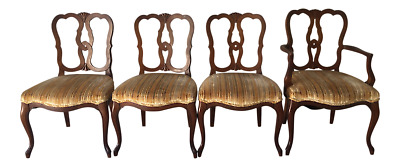 Vintage Kindel Furniture Cherry  Set of 4 Dining Chairs