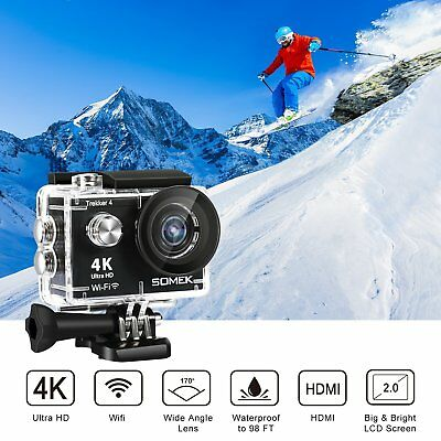WiFi Ultra 4K HD 1080P 16MP Waterproof Sport DV Action Video Camera Camcorder OY