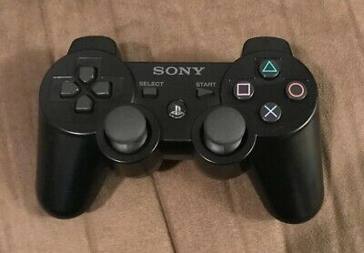 Official Sony Playstation 3 PS3 Black Wireless DualShock 3 Controller! Authentic