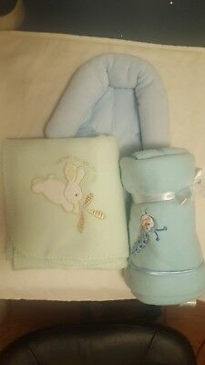 Two new baby blanket lot and infant car seat head support