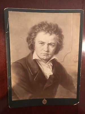Vintage 1895 Berlin Photographic Co. Print Photo of Ludwig Von Beethoven - RARE!
