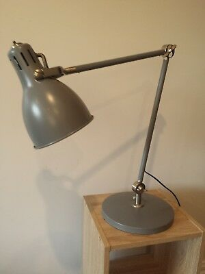 Grey Industrial Retro-Style Desk Lamp