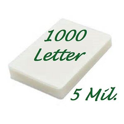 1000 Letter Laminating Pouches Laminator Sheets 9 x 11-1/2 5 Mil Scotch Quality