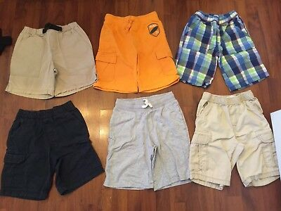 Boys Size 8 Shorts Lot TCP Crazy 8 Gymboree Canyon River Very Good