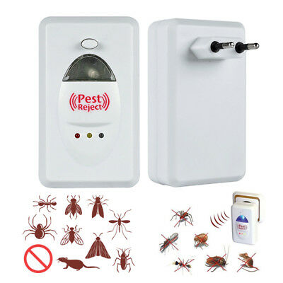 Ultrasonic Electronic Mosquito Rat Bug Pest Protect Repeller Repeller Reject