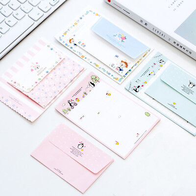 4 Sheet Letter Paper+ 2pcs Envelopes Message Writing Letter Set Office Supplies
