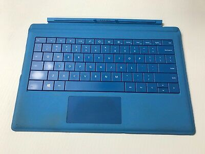 Genuine Microsoft Model 1644 Surface Pro 3 Type Cover Keyboard cyan blue *used*