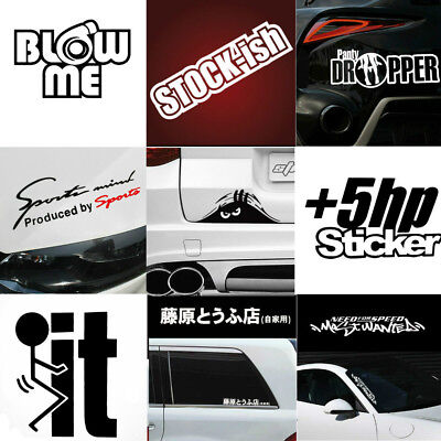 Racing Car Auto SUV Funy Decal Stickers Fun Reflective Vinyl Graphic Sticker
