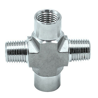 """HFS(R) Stainless Steel 304 FORGED Pipe Fitting, CROSS , 1/4"""" NPT Female"""
