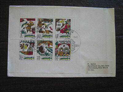 East Germany Ddr 1901-06  Kleinblock   First Day Cover Fdc Mailed To Usa