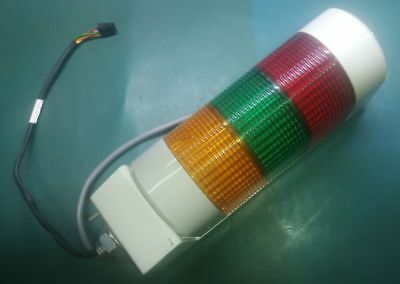 Patlite Type: WME-AFB 24VDC 3-Coloured (Amber-Green-Red) Light Tower