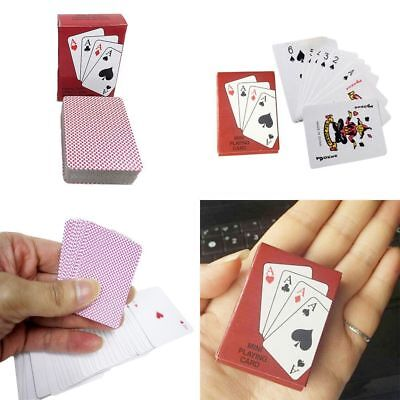 Foil Plated Portable Plastic Waterproof Playing Cards Set Mini Poker Card