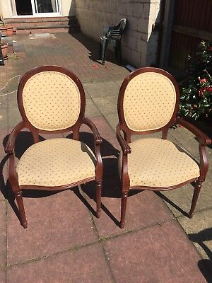 Pair of Edwardian style bedroom / dressing table Chairs