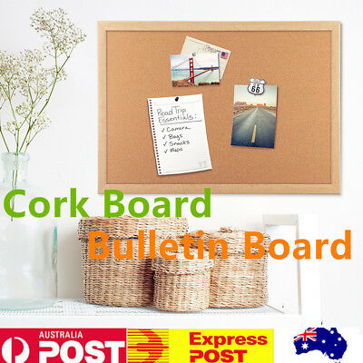 Cork Board Bulletin Board Notice Memo Message Photos Wooden Frame Board Large