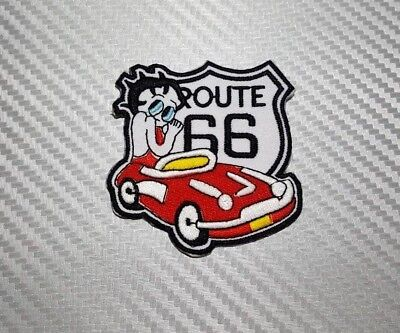 Embroidered Patch Iron Sew  Logo Emblem BETTY BOOP SEXY MARILYN CARTOON ROUTE 66