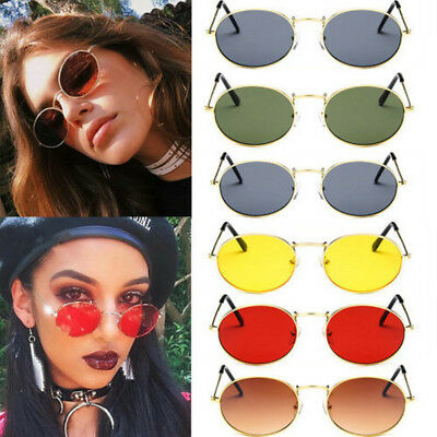 Unisex Vintage Round Metal Frame Sunglasses Retro Shades Trendy Glasses Outdoor