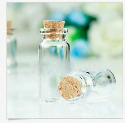 Wholesale Mini 10ml 22x50mm Empty Clear Wishing  Glass Bottles Vials With Cork