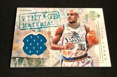 2016-17 Court Kings Vintage Materials #1 Grant Hill /149 Jersey PISTONS
