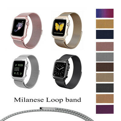 Stainless Steel Magnetic Milanese Loop Band Strap For Apple Watch Series 3 2 1 A