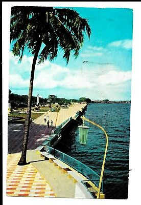 Malaya Singapore Postcard  Postally Used 1956?