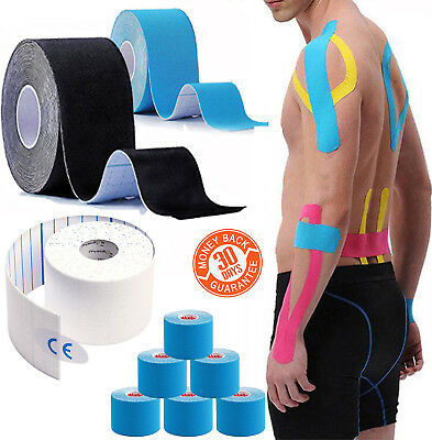 5m Sports Muscle Rock Kinesiology Tape Elastic Physio Injury Pain Relief Support