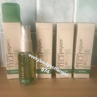 Avon~ADVANCE TECHNIQUES~Daily Shine~DRY ENDS SERUM~x4 Lots STOCK UP!!