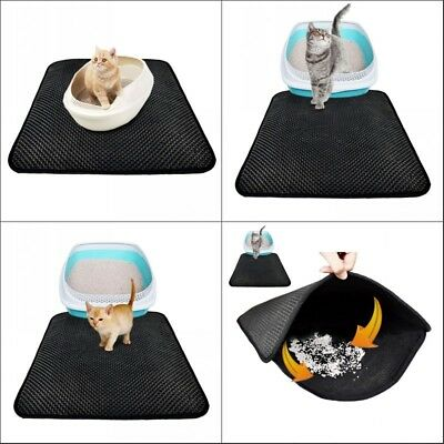 Double-Layer Cat Litter Mat Trapper Foldable Comfort Waterproof Pad Pet Rug Home