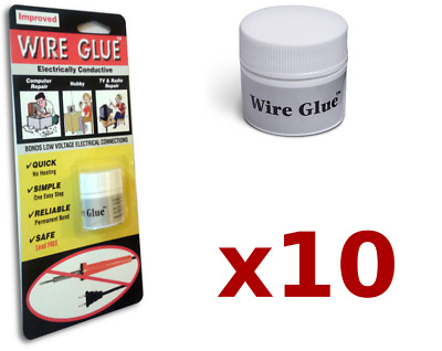 10x Highly Conductive Wire Glue/Paint for AC/DC (Trade pack) - NO Soldering Iron