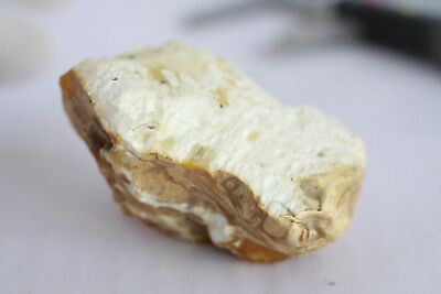 琥珀蜜蜡原石 raw amber stone rock 52.0g white beeswax 100% natural Baltic 天然波罗的海琥珀蜜蜡