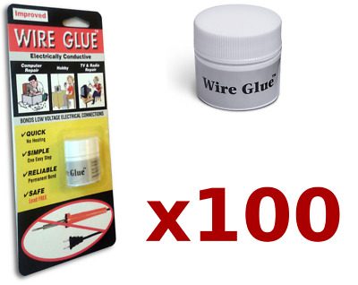 100x Highly Conductive Wire Glue/Paint for AC/DC (Trade pack) NO Soldering Iron
